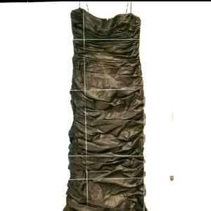 Teri Jon iridescent brown ruched formal gown 12